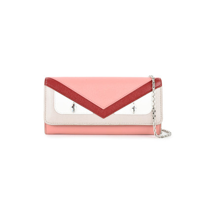 Continental chain wallet - Pink & Purple Fendi xER5uHYw