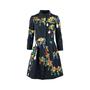 Authentic Pre Owned Oscar de la Renta Jewelled Printed Dress (PSS-458-00025) - Thumbnail 0