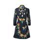 Authentic Pre Owned Oscar de la Renta Jewelled Printed Dress (PSS-458-00025) - Thumbnail 1