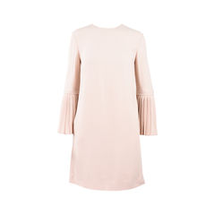 Pleated Sleeve Dress