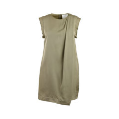 Pleated Drape Dress