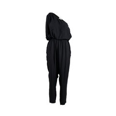 One Shoulder Draped Jumpsuit