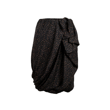 Authentic Pre Owned Lanvin Draped Printed Skirt (PSS-458-00033)