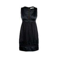 Contrast Zip Satin Dress