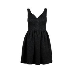 Black Jacquard Dress