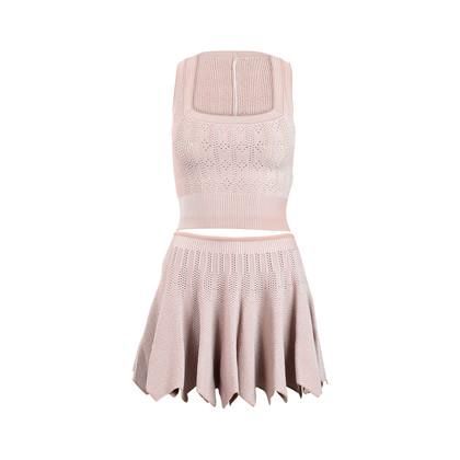 Authentic Pre Owned Azzedine Alaïa Bicolour Knit Set (PSS-143-00102)