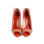 Authentic Second Hand Alexander McQueen Red Snake Skin Patent Pumps (PSS-080-00263) - Thumbnail 0