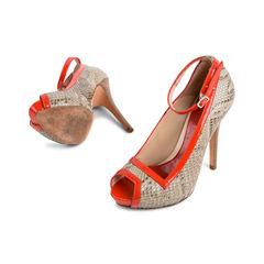 Alexander mcqueen red snake skin patent pumps 2?1523866218