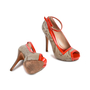 Authentic Second Hand Alexander McQueen Red Snake Skin Patent Pumps (PSS-080-00263) - Thumbnail 5