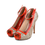 Authentic Second Hand Alexander McQueen Red Snake Skin Patent Pumps (PSS-080-00263) - Thumbnail 2