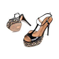 Giuseppe zanotti tribal black patent sandals 2?1523866364