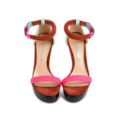 Multicoloured Combination Neon Sandal