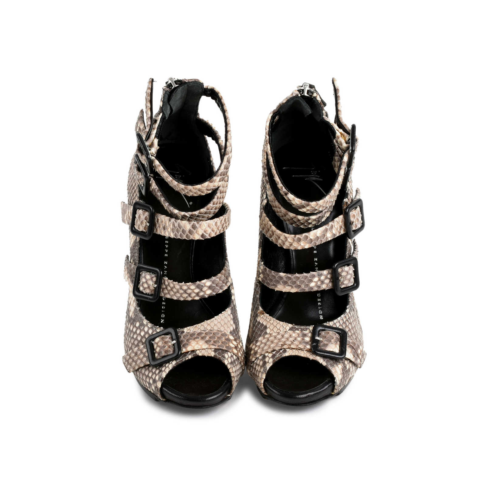 63ad4f995115 Authentic Second Hand Giuseppe Zanotti Python Buckled Strappy Sandals (PSS- 080-00274) ...