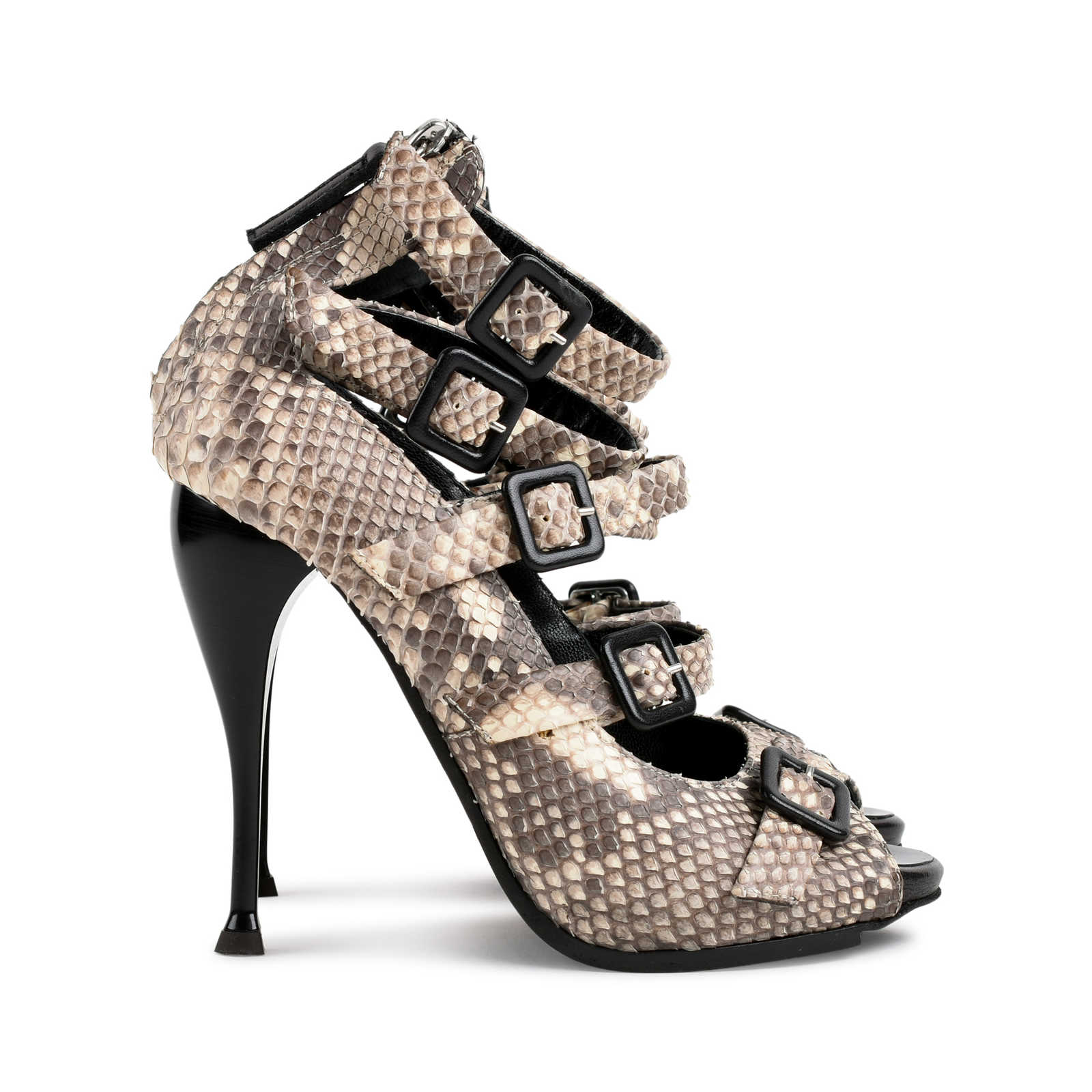 81df61648183 ... Authentic Second Hand Giuseppe Zanotti Python Buckled Strappy Sandals ( PSS-080-00274) ...