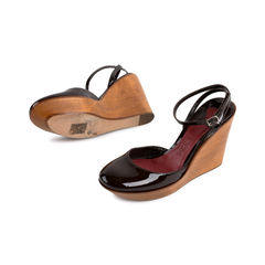 Chloe patent wooden wedges 2?1523866533