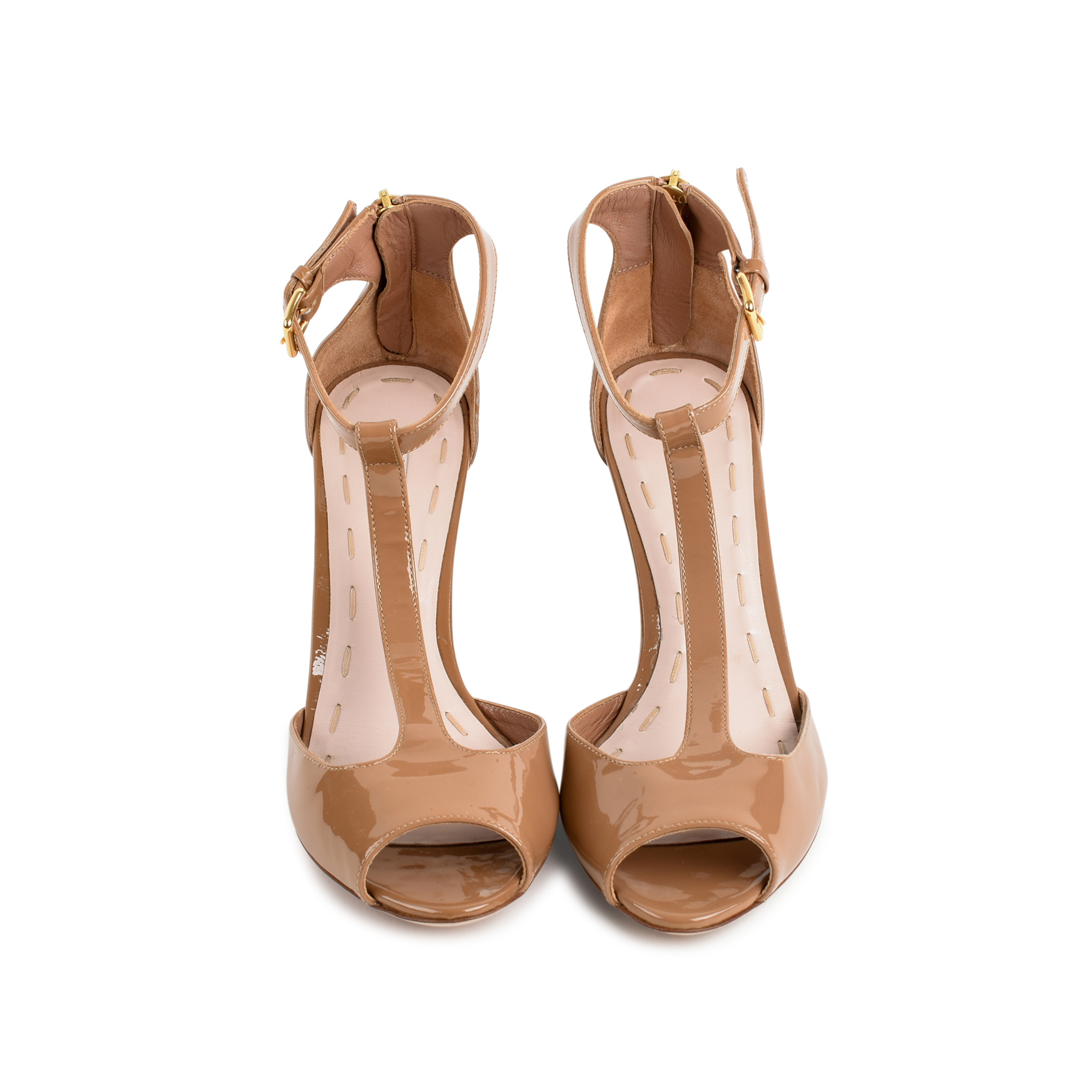 602ce74ad668 Authentic Second Hand Miu Miu Patent T-Strap Wedges (PSS-080-00276 ...