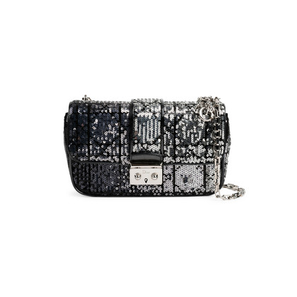 Authentic Second Hand Christian Dior Sequin Cannage Miss Dior Bag (PSS-491-00006)