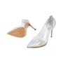 Authentic Second Hand Gianvito Rossi Leather & Plexy Metallic Pumps (PSS-475-00007) - Thumbnail 1