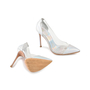 Authentic Second Hand Gianvito Rossi Leather & Plexy Metallic Pumps (PSS-475-00007) - Thumbnail 2