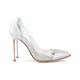 Authentic Second Hand Gianvito Rossi Leather & Plexy Metallic Pumps (PSS-475-00007) - Thumbnail 4