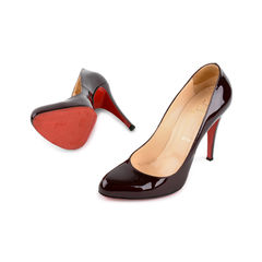 Christian louboutin decollete 868 patent pumps red 6