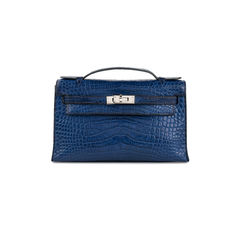 Bleu de Malte Alligator Kelly Pochette