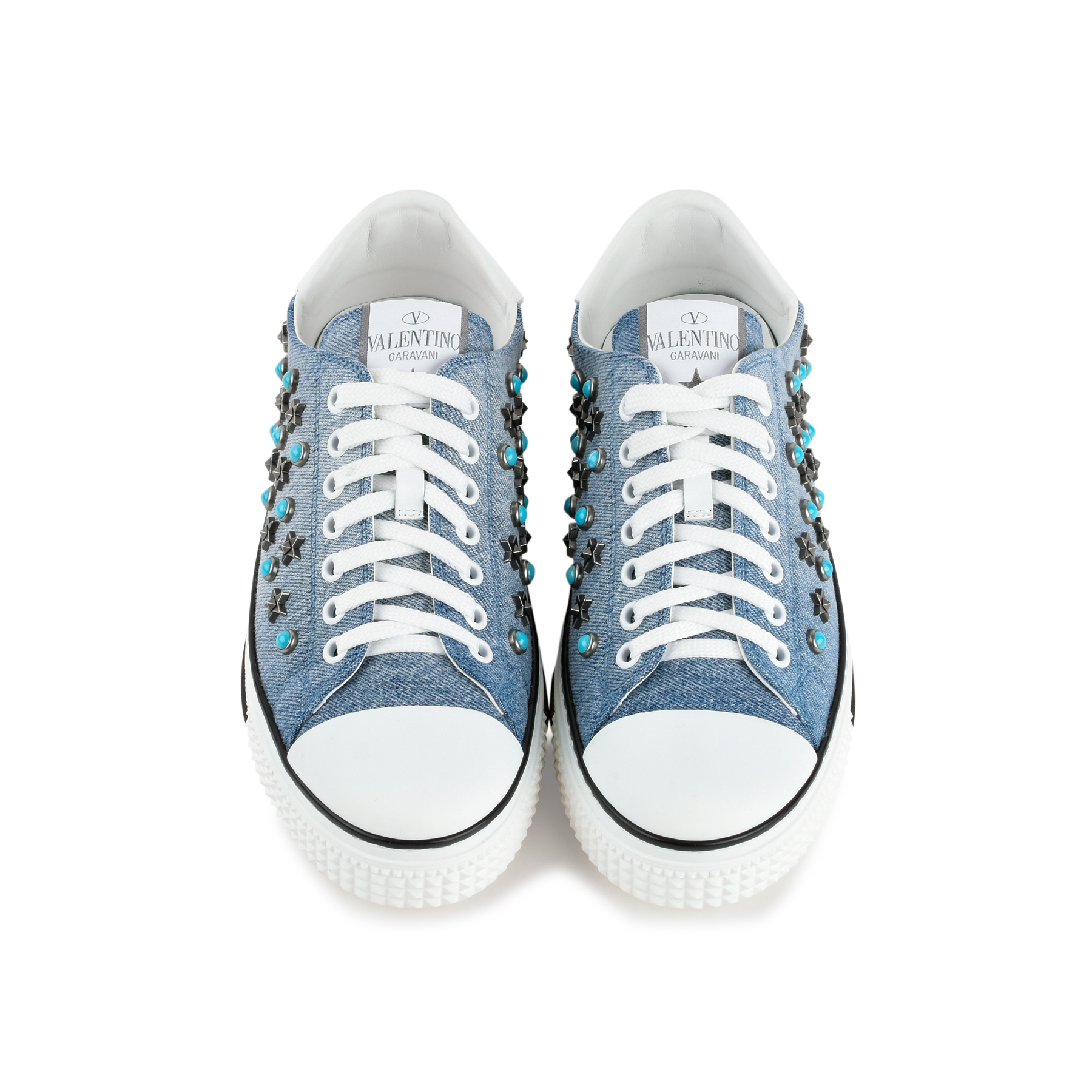 81afb3f0873 Authentic Second Hand Valentino Star Studded Denim Sneakers (PSS-200-01351)  - THE FIFTH COLLECTION