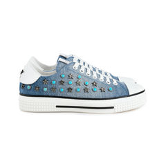 Valentino star studded denim sneakers 5?1524035927