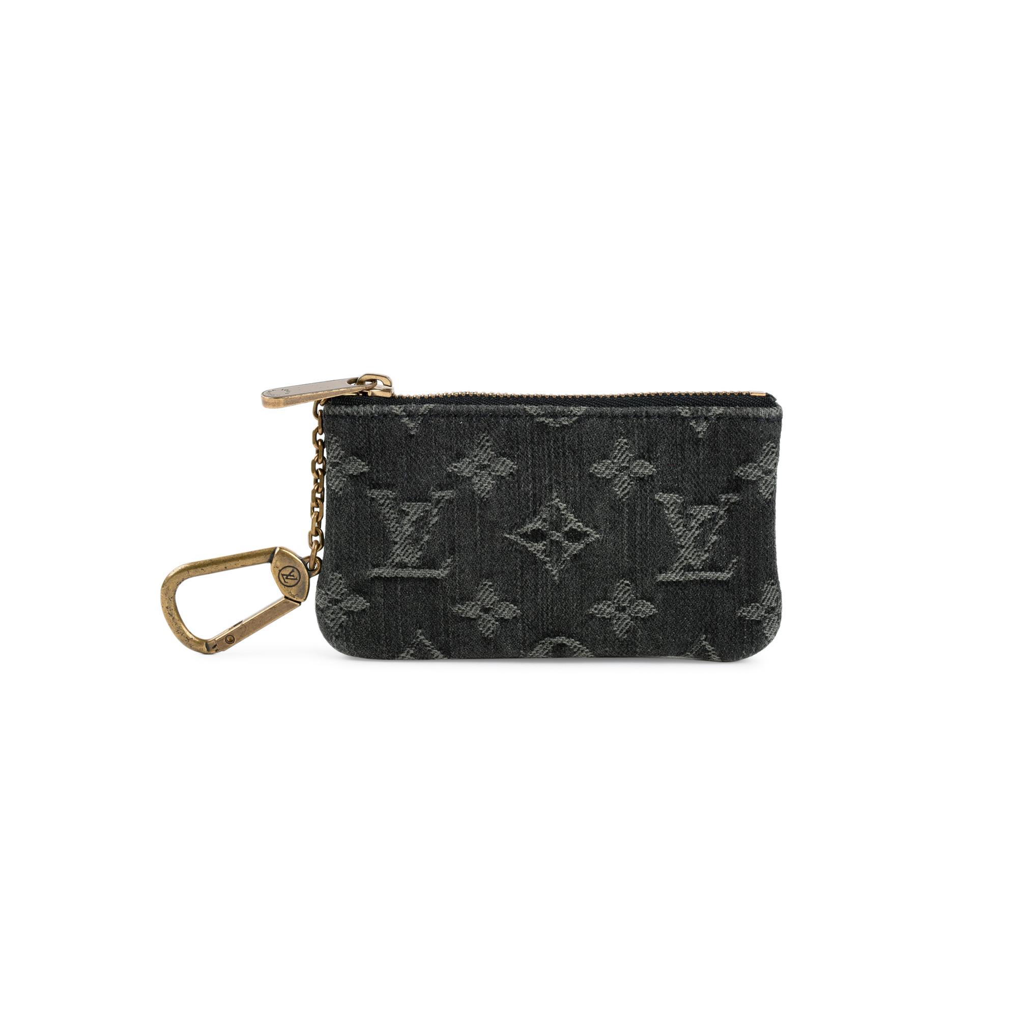 bd8833acdb5f Authentic Second Hand Louis Vuitton Denim Pochette Cles Coin Pouch  (PSS-200-01367)