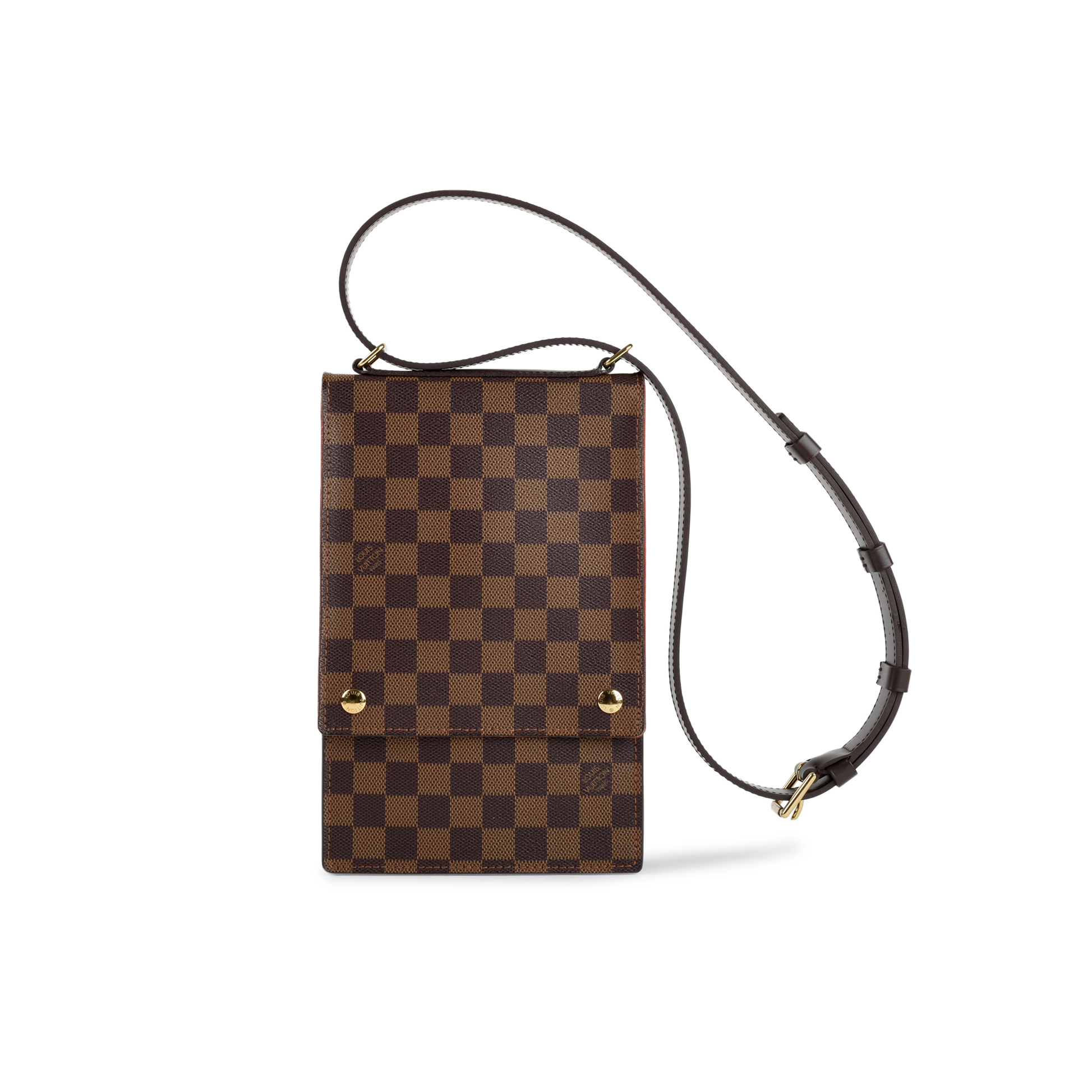 Authentic Second Hand Louis Vuitton Damier Ebene Portobello Crossbody Bag  (PSS-440-00005)  bcc0eb04dccc2