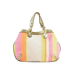 Mojito Monogram Striped Shoulder Bag