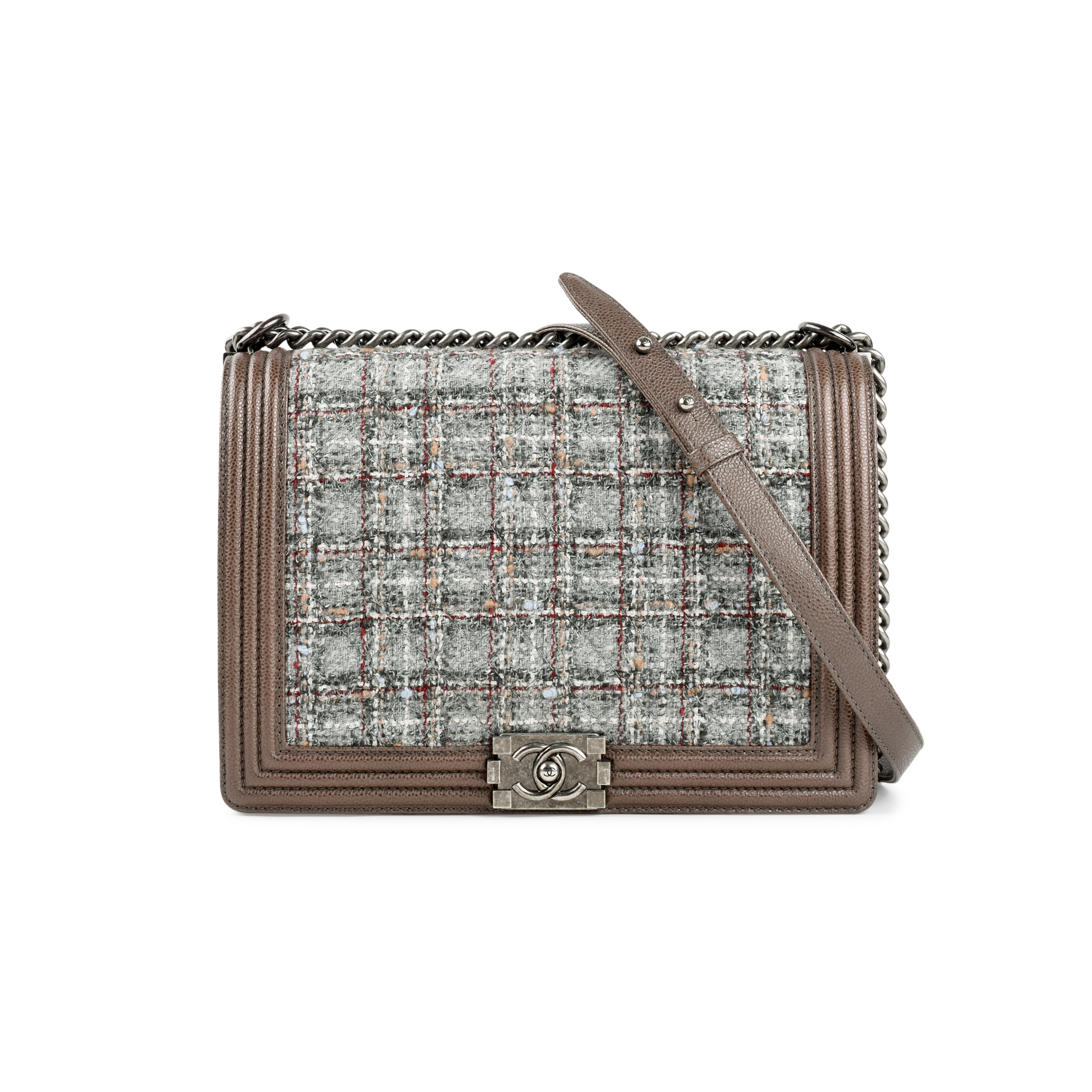 8f94889475e4 Authentic Second Hand Chanel Limited Edition Tweed Large Boy Bag  (PSS-200-01340) | THE FIFTH COLLECTION