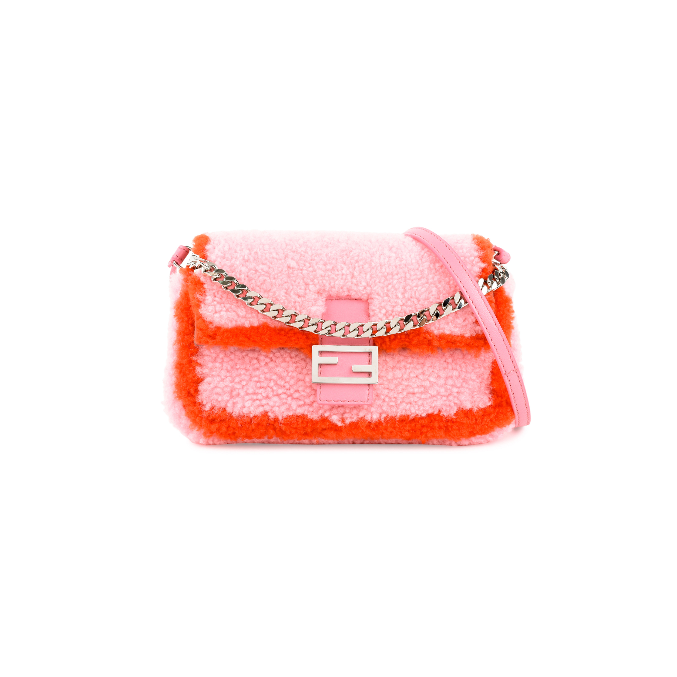 Authentic Second Hand Fendi Micro Baguette Shearling Bag (PSS-200-01341)  dc9a422e0ce99