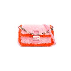 Micro Baguette Shearling Bag