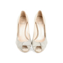 Authentic Second Hand Christian Dior Python Embossed Peep Toe Pumps (PSS-148-00030) - Thumbnail 0