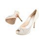 Authentic Second Hand Christian Dior Python Embossed Peep Toe Pumps (PSS-148-00030) - Thumbnail 1
