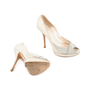 Authentic Second Hand Christian Dior Python Embossed Peep Toe Pumps (PSS-148-00030) - Thumbnail 2