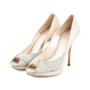 Authentic Second Hand Christian Dior Python Embossed Peep Toe Pumps (PSS-148-00030) - Thumbnail 4