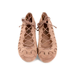Laced Up Ballerina Flats