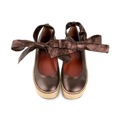 Espadrille Leather Clog Platforms