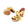 Authentic Second Hand Marc by Marc Jacobs Gold Multi Espadrille Wedges (PSS-433-00004) - Thumbnail 1