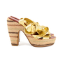 Authentic Second Hand Marc by Marc Jacobs Gold Multi Espadrille Wedges (PSS-433-00004) - Thumbnail 4