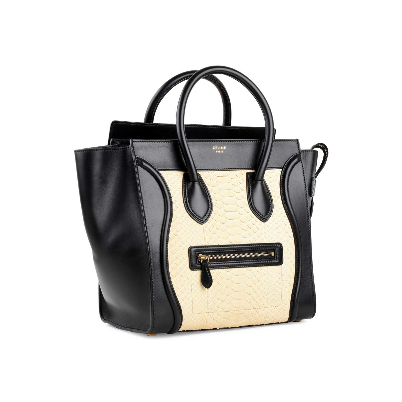 028c73a984 ... Authentic Second Hand Céline Python Mini Luggage Tote (PSS-470-00004)  ...