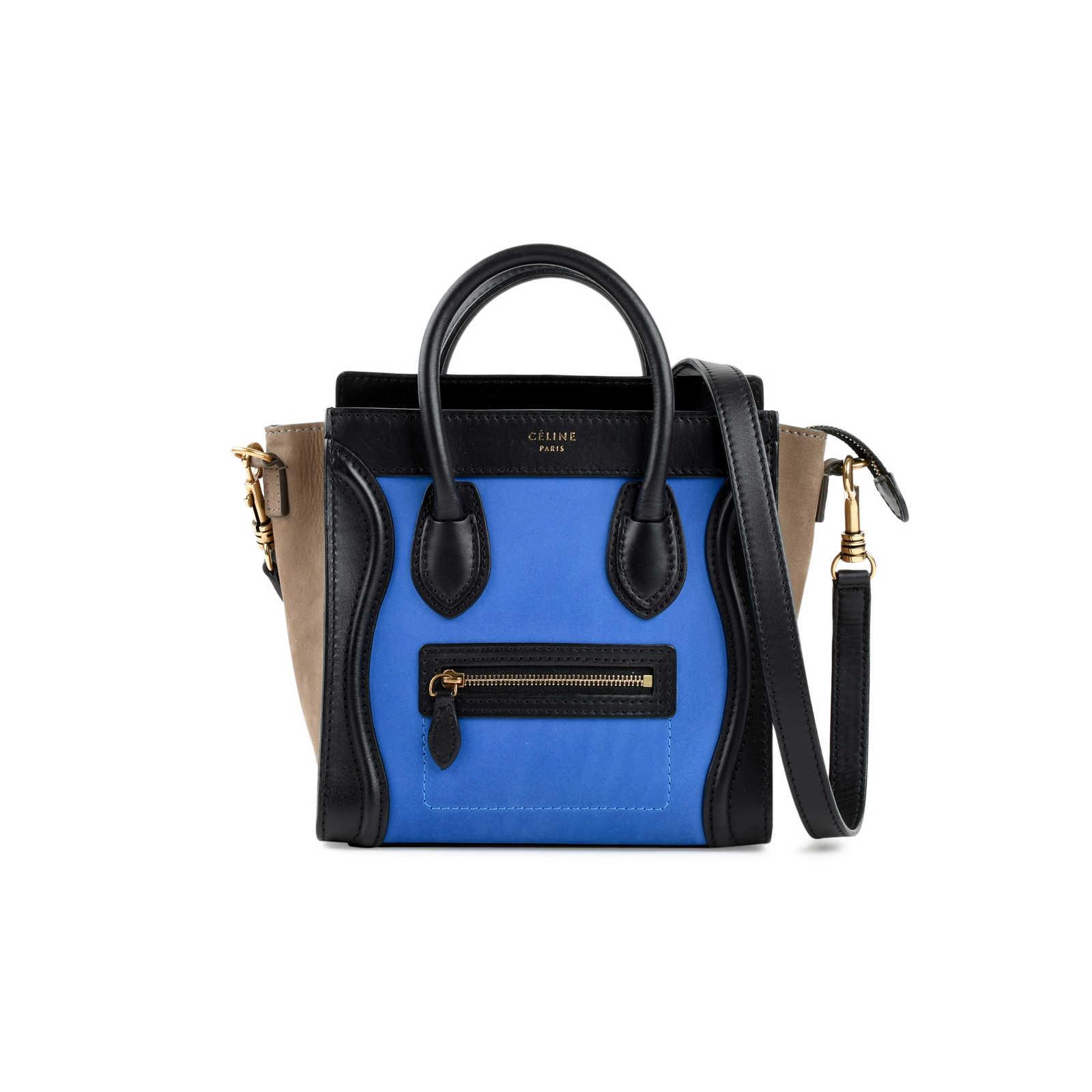 Authentic Second Hand Céline Nano Tricolour Luggage Tote (PSS-470-00006) ... 58adc073f6d5d