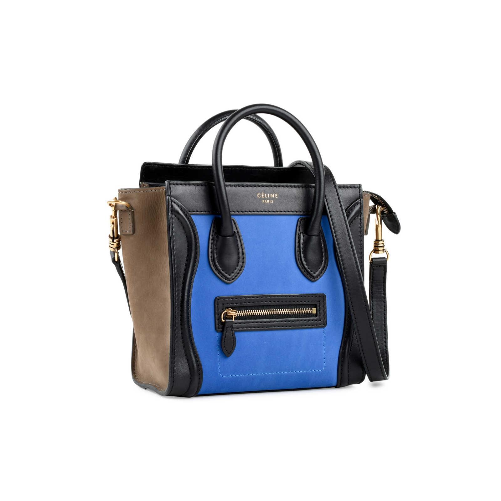 ... Authentic Second Hand Céline Nano Tricolour Luggage Tote  (PSS-470-00006) ... 6ddf89e6009ed