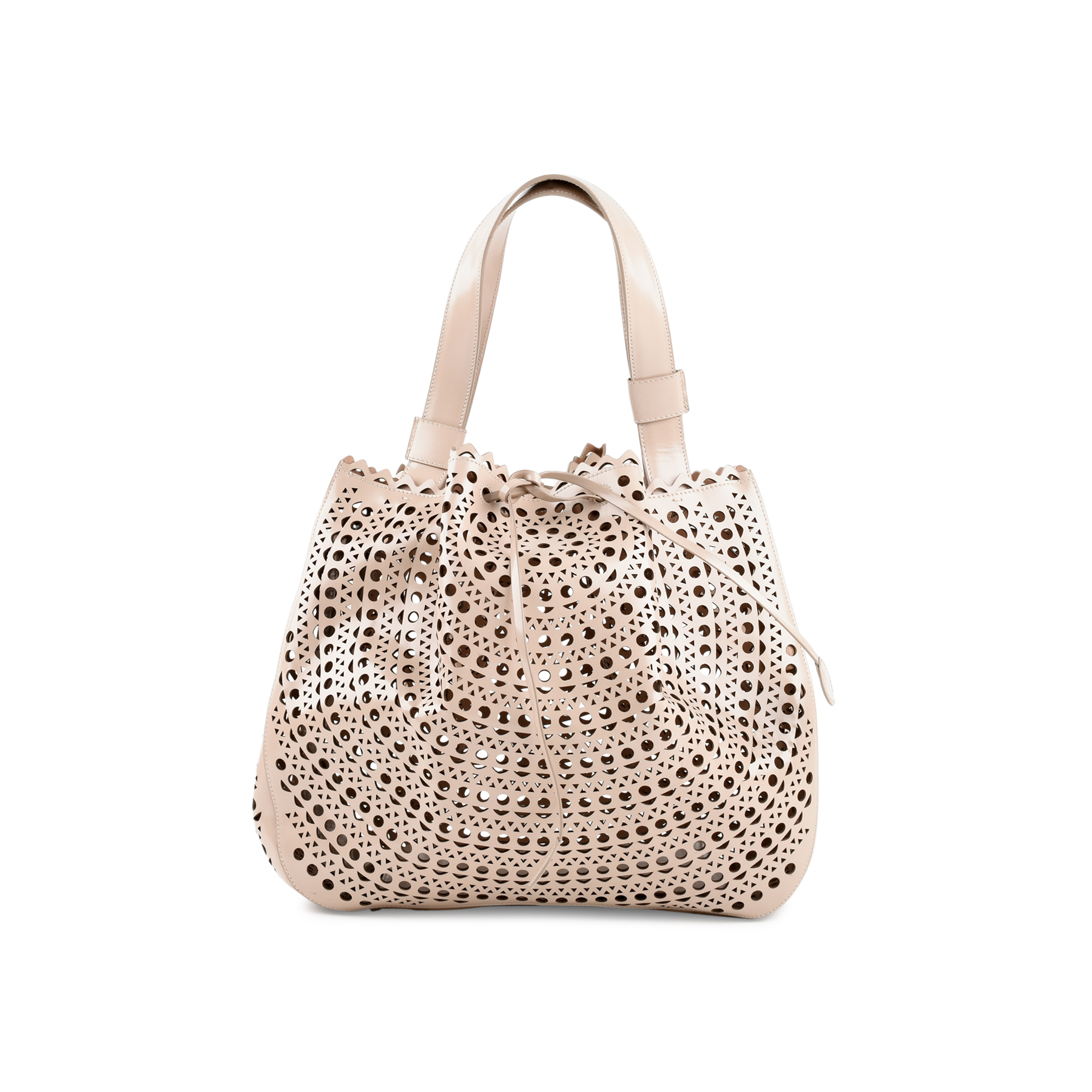 f31712511 Authentic Second Hand Azzedine Alaïa Laser-Cut Tote Bag (PSS-470-00010) -  THE FIFTH COLLECTION