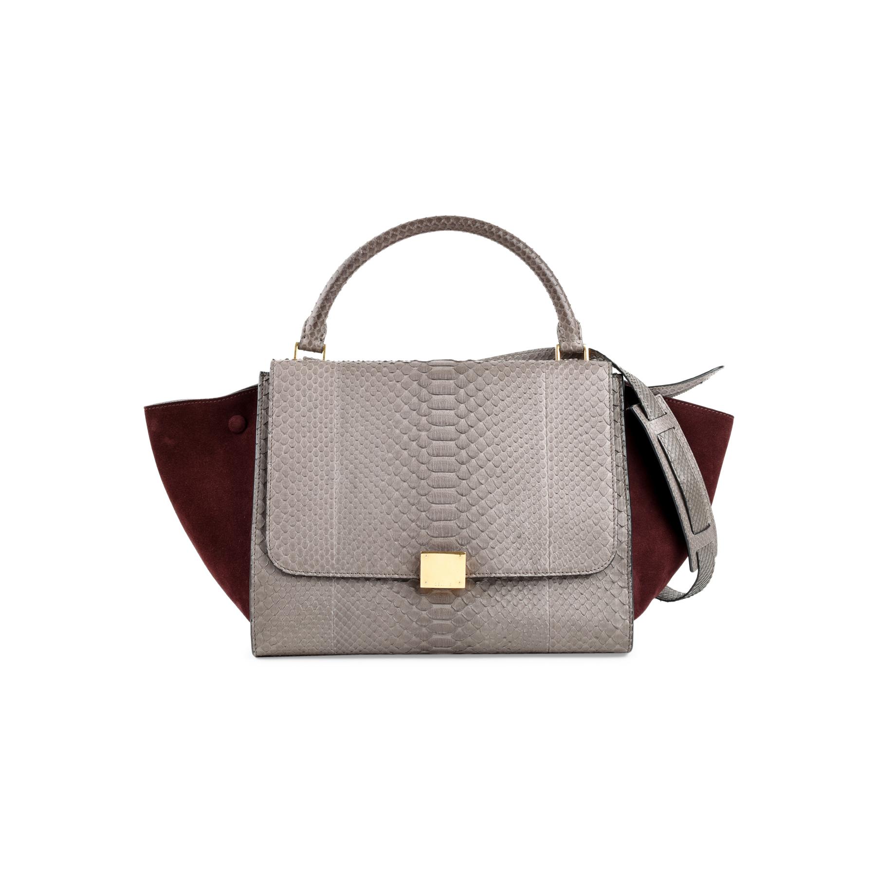 84d586fbaf94 Authentic Second Hand Céline Trapeze Python Bag (PSS-470-00038 ...