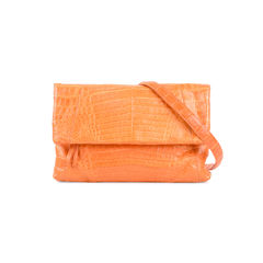 Soft Flap Crocodile Clutch