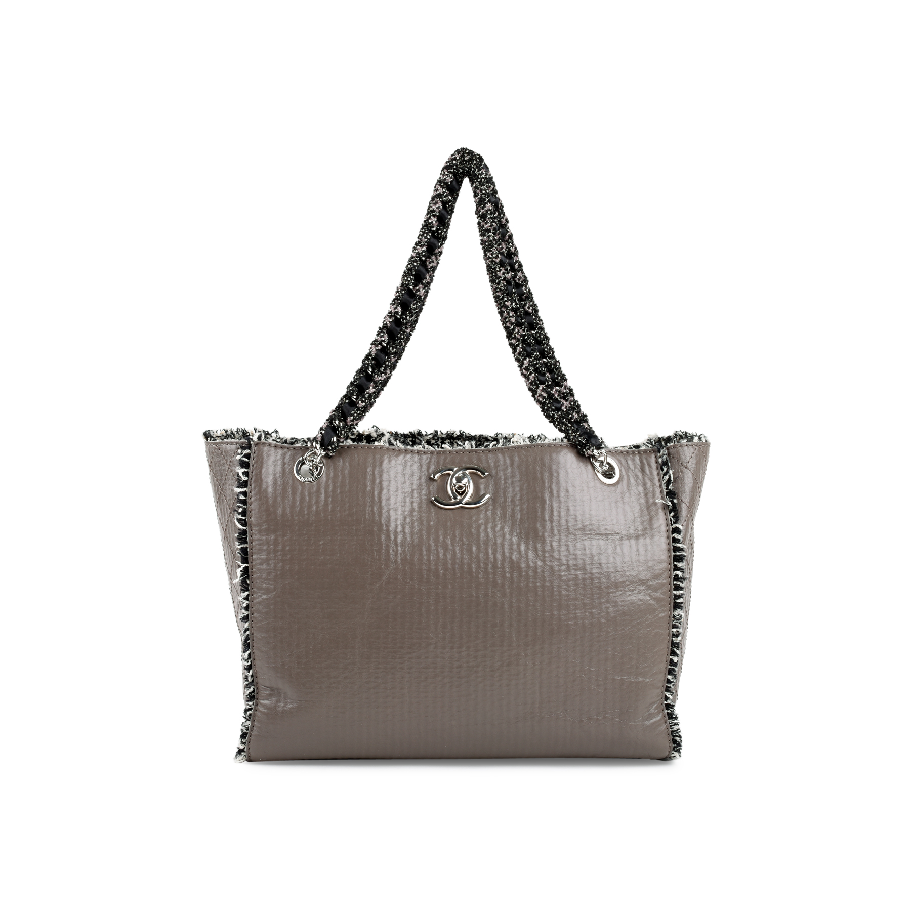 a6a2cefdf5a4ba Authentic Second Hand Chanel Tweed Trim Timeless Tote (PSS-200-01339) | THE  FIFTH COLLECTION