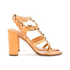 Valentino rockstud stack heel sandals 5?1524466152